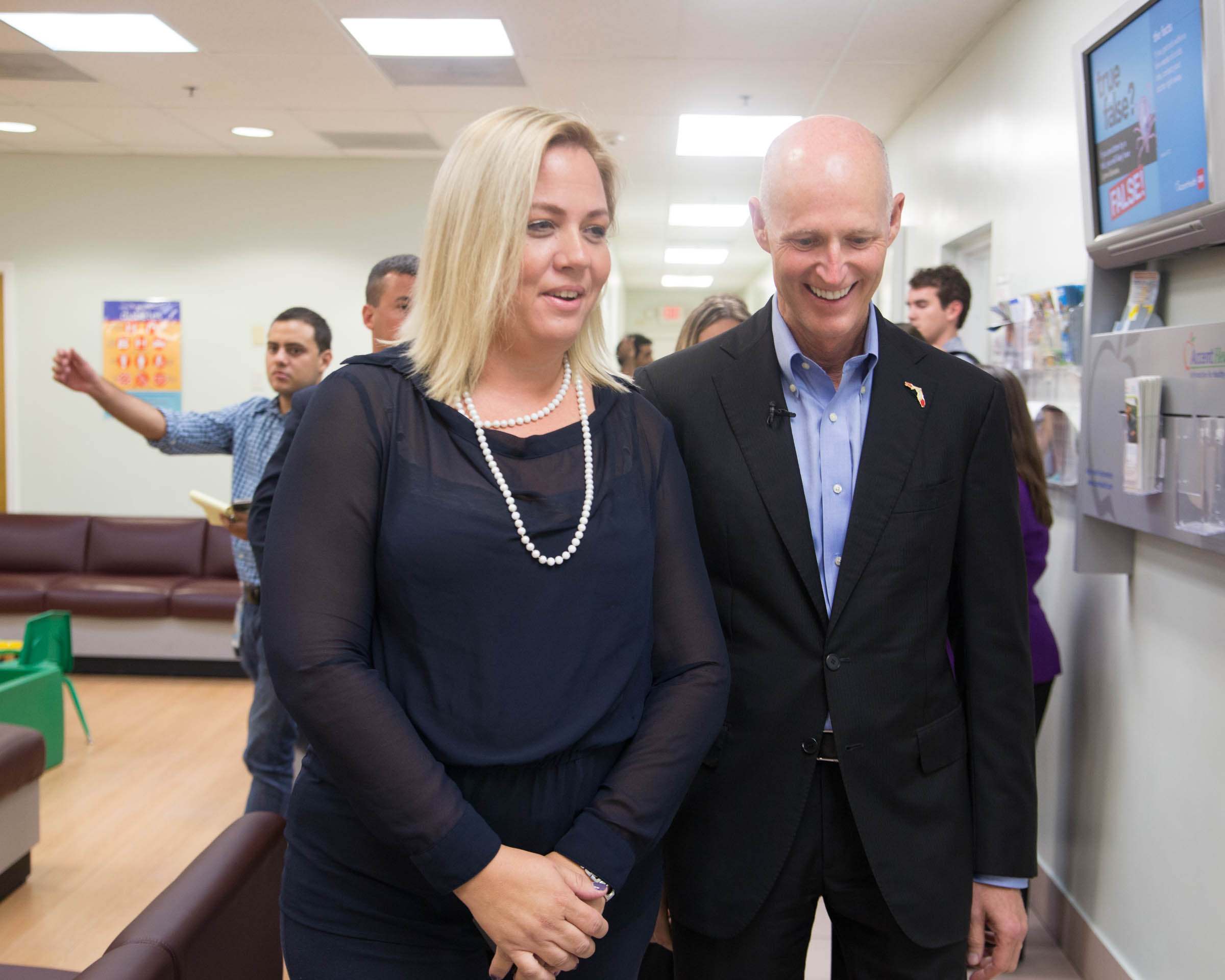 Founder THFM & Survivor Leader Dr. Katariina Rosenblatt with FLA Gov. Rick Scott